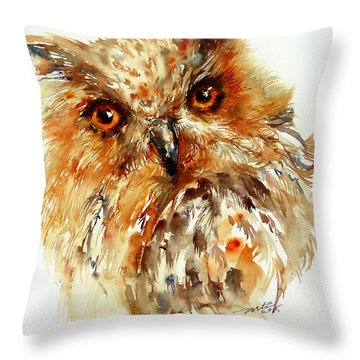 Bronzai The Owl Throw Pillow