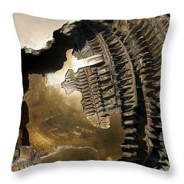 Bronze Abstract Throw Pillow