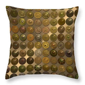 Bronzed Hubcaps Throw Pillow