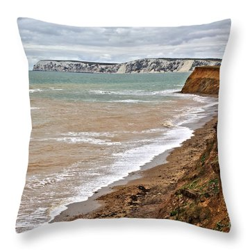Brook Bay And Chalk Cliffs Throw Pillow