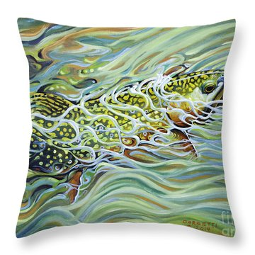 Brookie Flash Throw Pillow