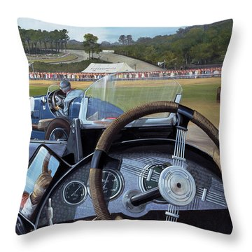 Brooklands - From The Hot Seat Throw Pillow by Richard Wheatland