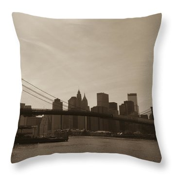 Brooklyn April 2013 Throw Pillow