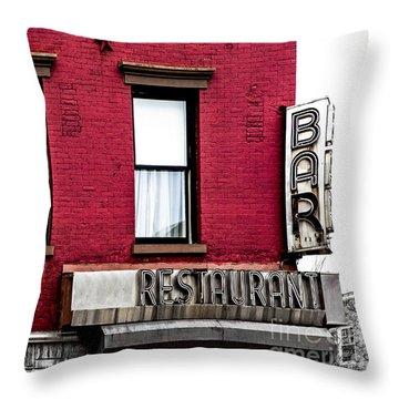 Brooklyn Bar Throw Pillow by Diane Diederich