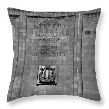 Brooklyn Battery Tunnel Throw Pillow