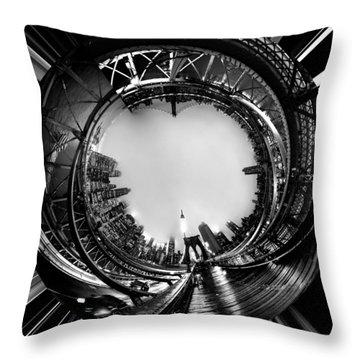 Brooklyn Bridge Circagraph 4 Throw Pillow by Az Jackson