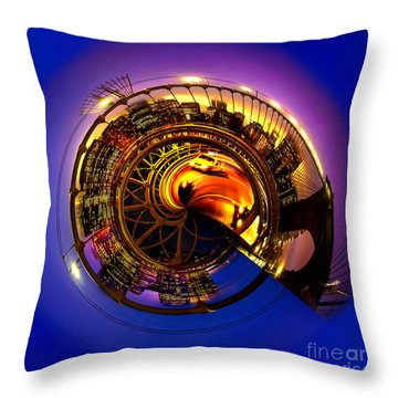 Brooklyn Bridge Circagraph 5 Throw Pillow