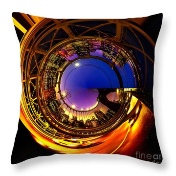 Brooklyn Bridge Circagraph 6 Throw Pillow