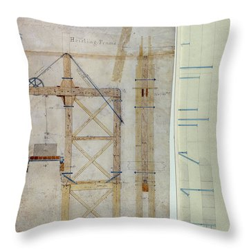 Brooklyn Bridge: Diagram Throw Pillow by Granger