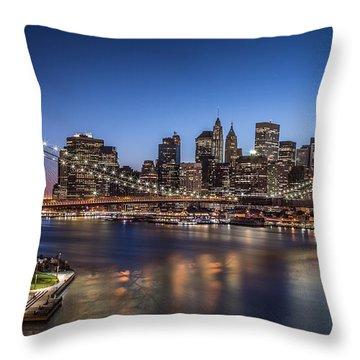 Brooklyn Bridge Throw Pillow by Mihai Andritoiu