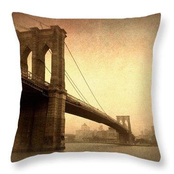 Brooklyn Bridge Nostalgia II Throw Pillow