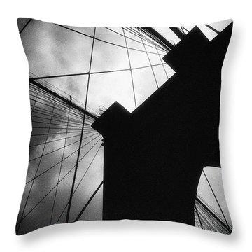 Brooklyn Bridge Silhouette Throw Pillow