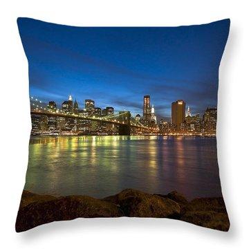 Brooklyn Bridge Throw Pillow by Svetlana Sewell