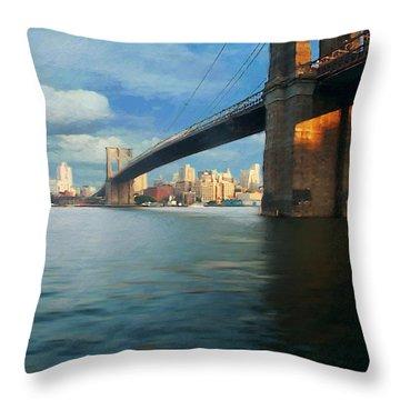 Throw Pillow featuring the digital art Brooklyn by David Klaboe