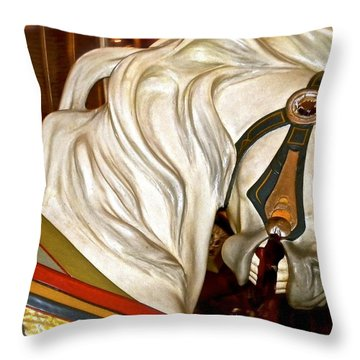 Brooklyn Hobby Horse Throw Pillow by Joan Reese