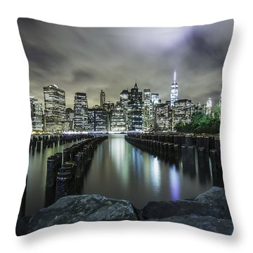 Throw Pillow featuring the photograph Brooklyn On The Rocks  by Anthony Fields