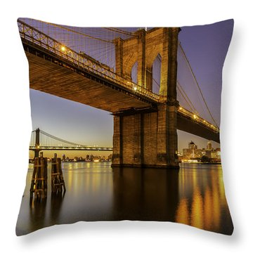 Throw Pillow featuring the photograph Brooklyn Sunrise by Anthony Fields