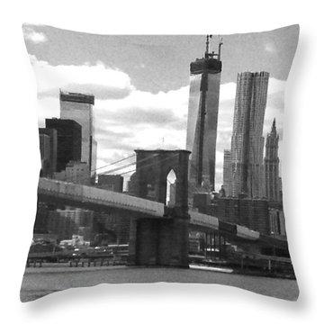 View Of Manhattan Throw Pillow