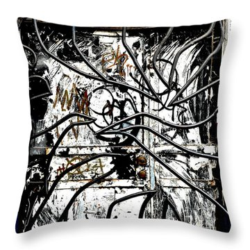 Broome Street Found Art Nyc Throw Pillow by Steve Archbold