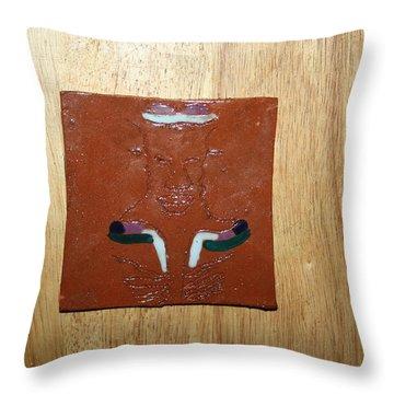 Brotherhood - Tile Throw Pillow by Gloria Ssali