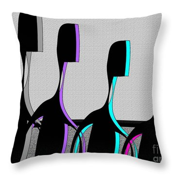 Brothers Throw Pillow by Iris Gelbart