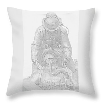 Brothers Throw Pillow by Susan  McMenamin