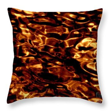 Brown Abstract Plants Throw Pillow