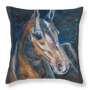 Brown Beauty  Throw Pillow by Patricia Olson