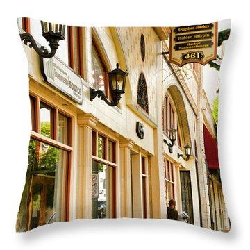 Brown Bros Building Throw Pillow