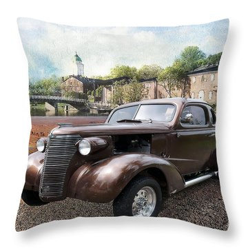 Throw Pillow featuring the photograph Brown Classic Collector by Liane Wright