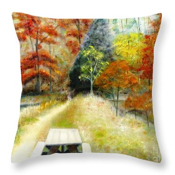 Brown County Throw Pillow