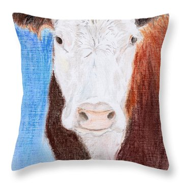 Brown-eyed Girl Throw Pillow