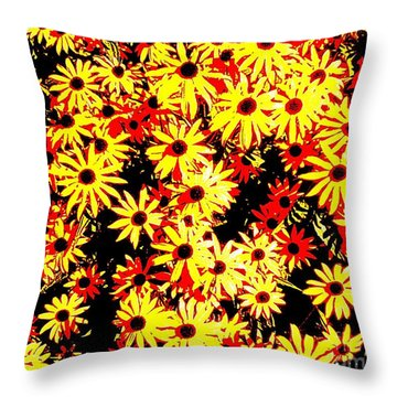 Brown Eyed Susans I Throw Pillow