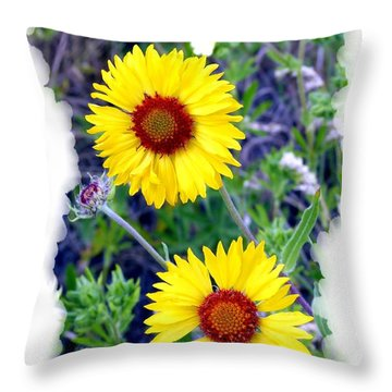 Brown- Eyed Susans Throw Pillow