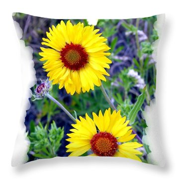 Brown- Eyed Susans Throw Pillow by Will Borden