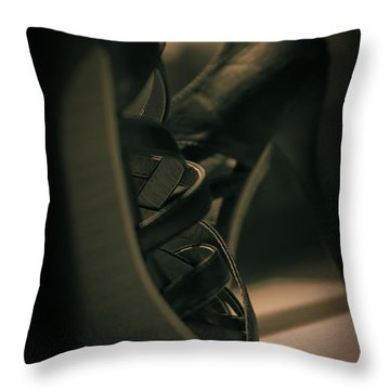Brown High Heels Stylish Shoes Throw Pillow