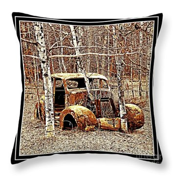 Brown Lady Throw Pillow