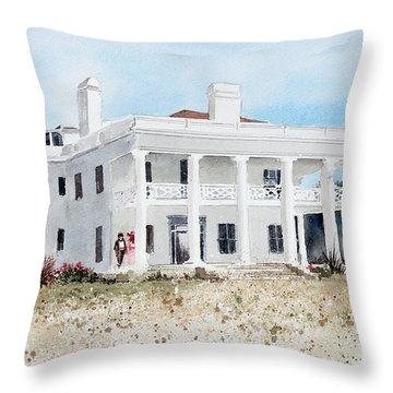 Brown Mansion Throw Pillow