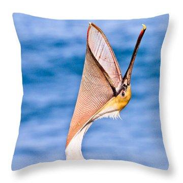 Brown Pelican - Head Throw Throw Pillow