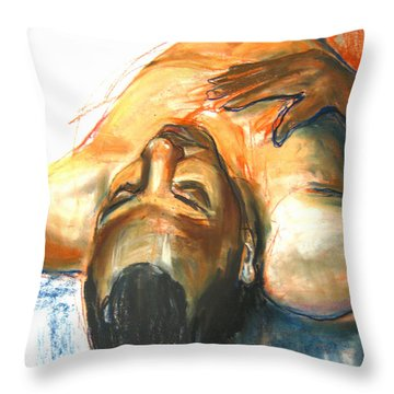 Throw Pillow featuring the drawing Brown Sugar by Gabrielle Wilson-Sealy