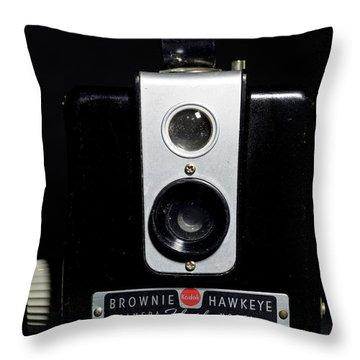 Brownie Hawkeye Flash Camera Throw Pillow