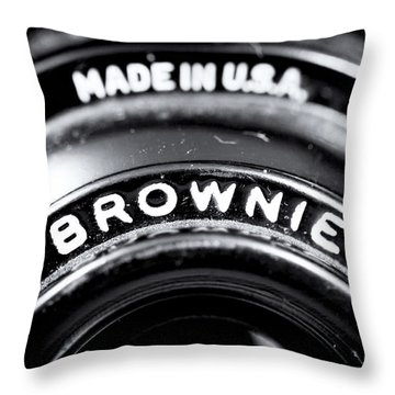 Brownie Throw Pillow by John Rizzuto