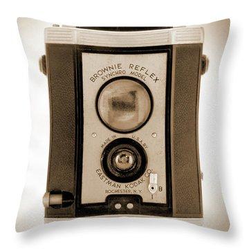 Brownie Reflex Throw Pillow by Mike McGlothlen