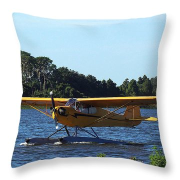Brown's Piper Cub 005  Throw Pillow