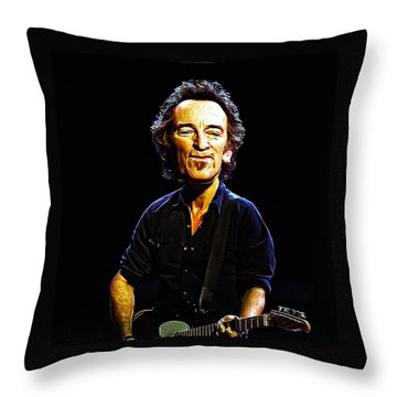 Bruce Throw Pillow by Bill Cannon