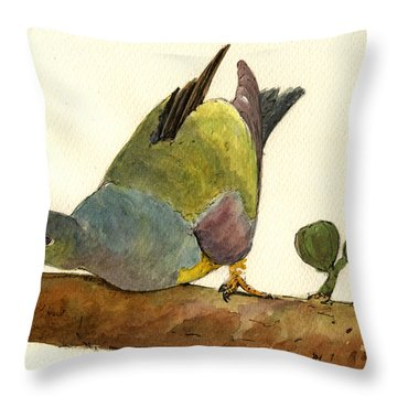 Pigeon Throw Pillows