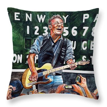 Bruce Springsteen Throw Pillows