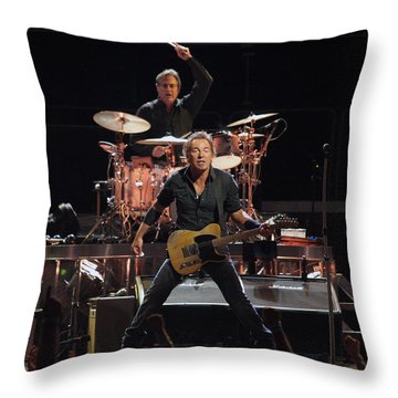 Bruce Springsteen In Concert Throw Pillow