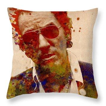 Bruce Springsteen Throw Pillow by Bekim Art