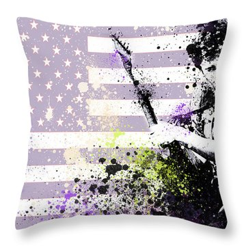 Bruce Springsteen Splats Throw Pillow